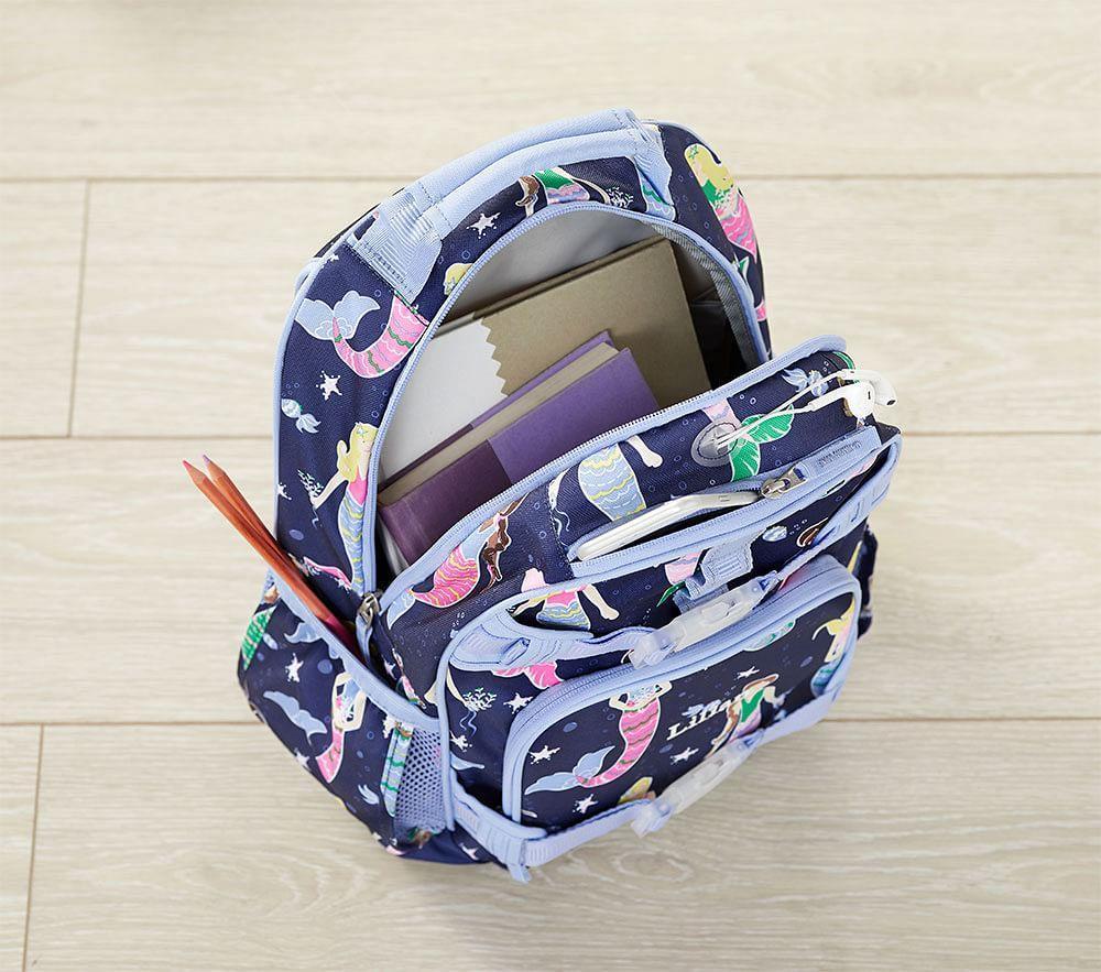 Mackenzie Navy Multicolour Heart Backpack Pottery Barn