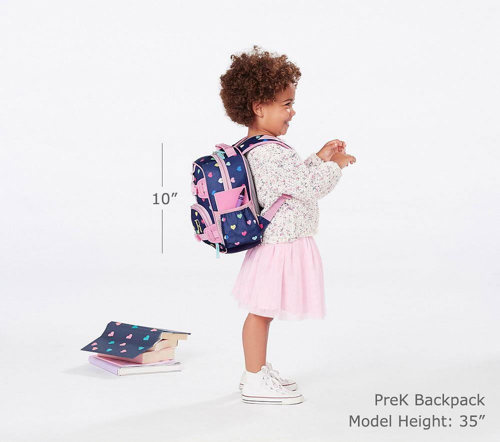 Mackenzie Navy Multicolour Heart Backpack Pottery Barn