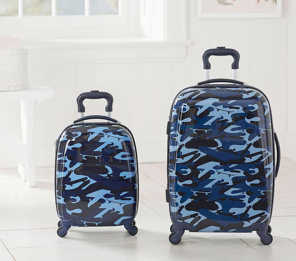 Mackenzie Navy Skateboard Camo Hard Sided Spinner Luggage