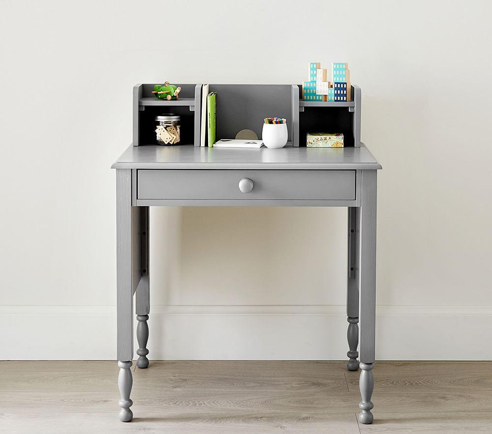 Catalina Simple Desk & Low Hutch - Simply White