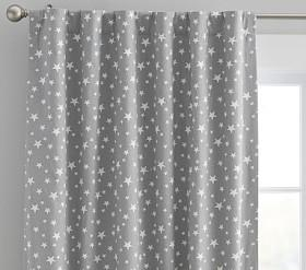 Star Printed Blackout Curtain Panel