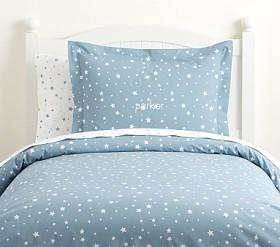 Organic Shining Star Glow-in-the-Dark Quilt Cover