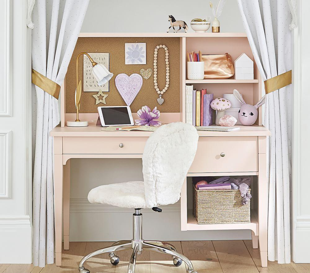 Morgan Storage Desk Amp Hutch Blush Pottery Barn Kids
