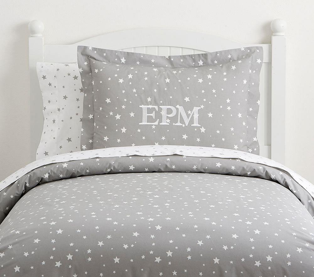 Organic Shining Star Glow In The Dark Quilt Cover