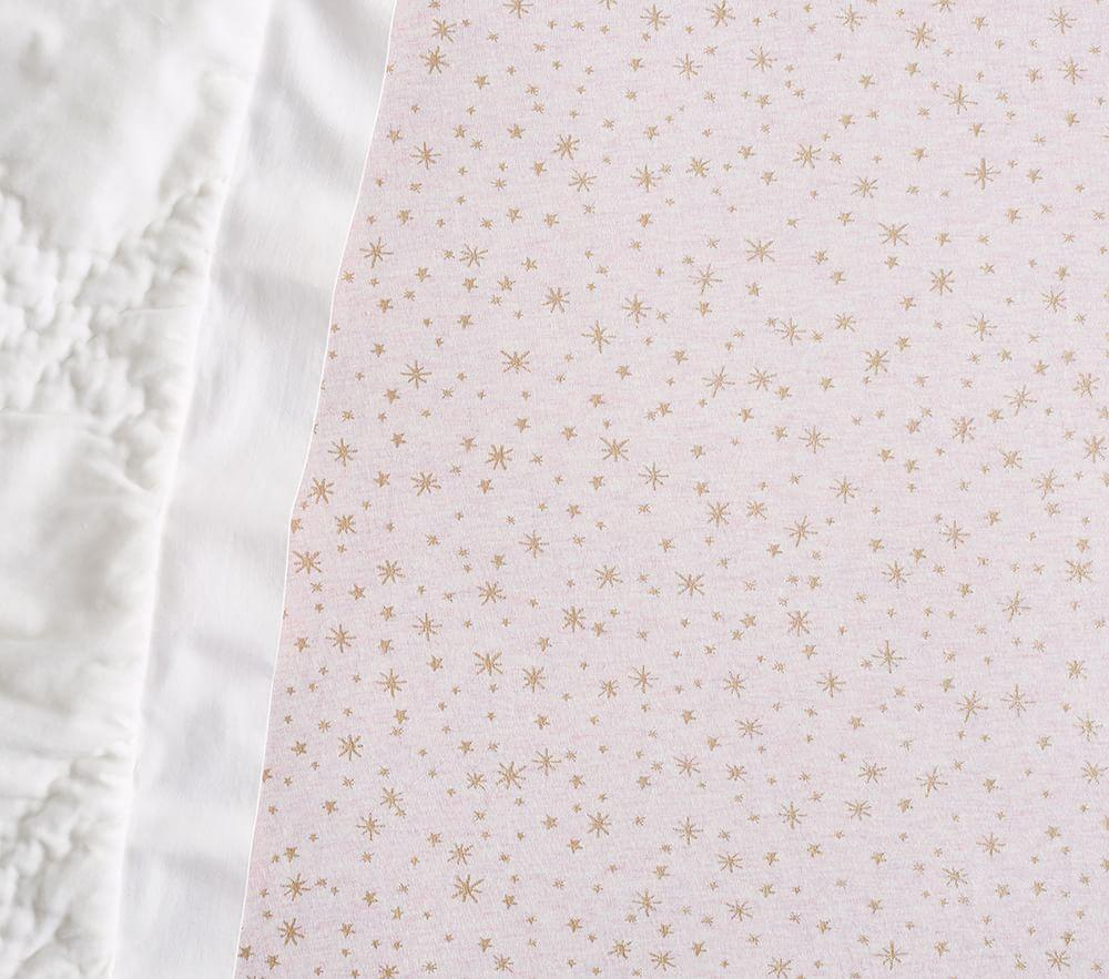 Metallic Star Cot Fitted Sheet