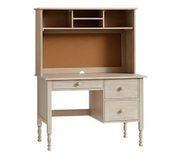 Catalina Storage Desk & Large Hutch - Brushed Fog