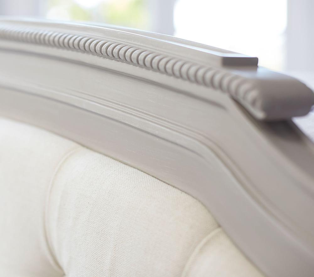 Blythe Tufted Bed - Vintage Grey