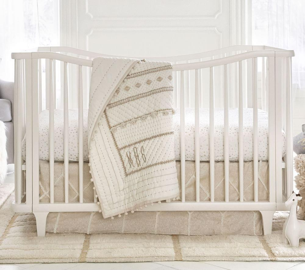 Micah Metallic Baby Bed Linen