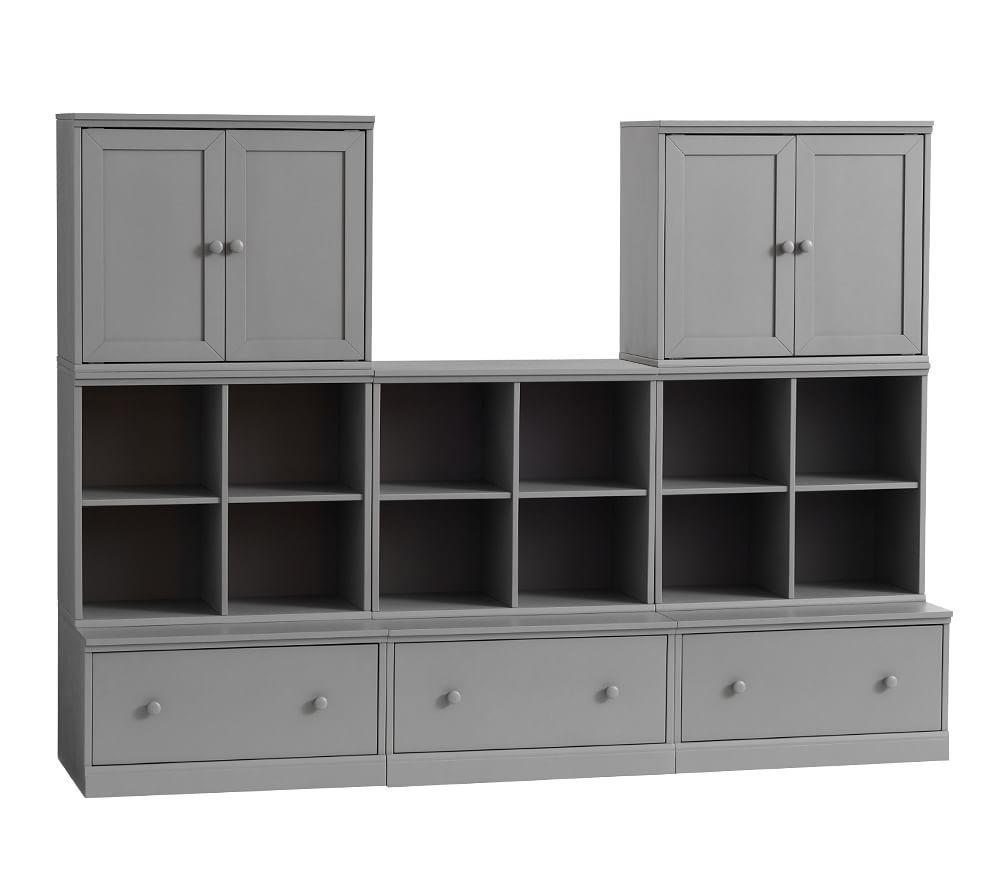 Cameron 3 Cubby, 3 Drawer Base & 2 Cabinet Set