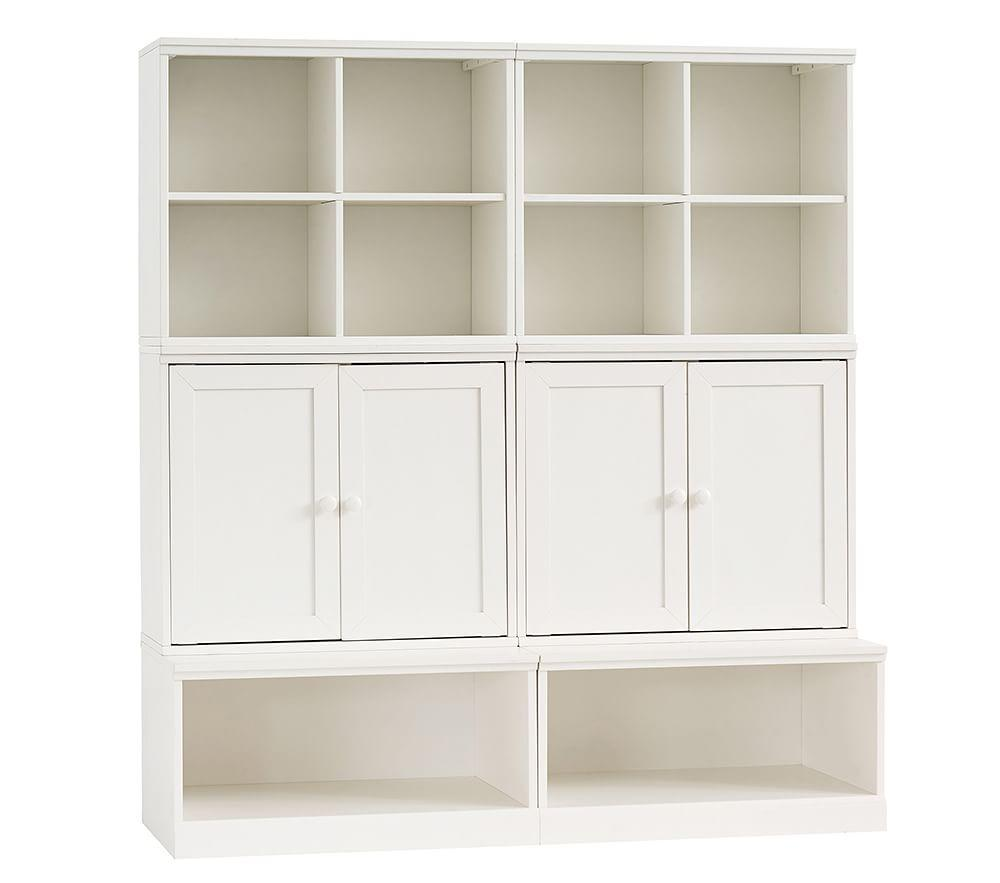Cameron Small Space with Open Bases Storage Wall System
