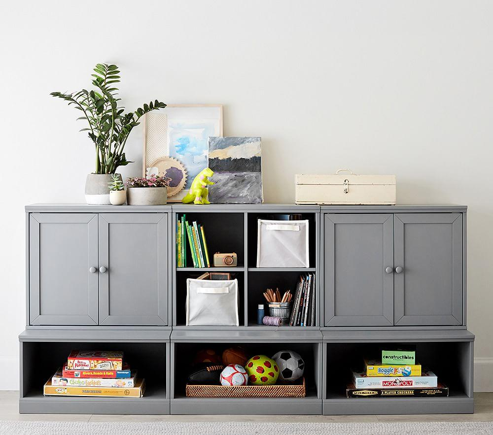 Cameron Low Storage System With Open Bases Pottery Barn