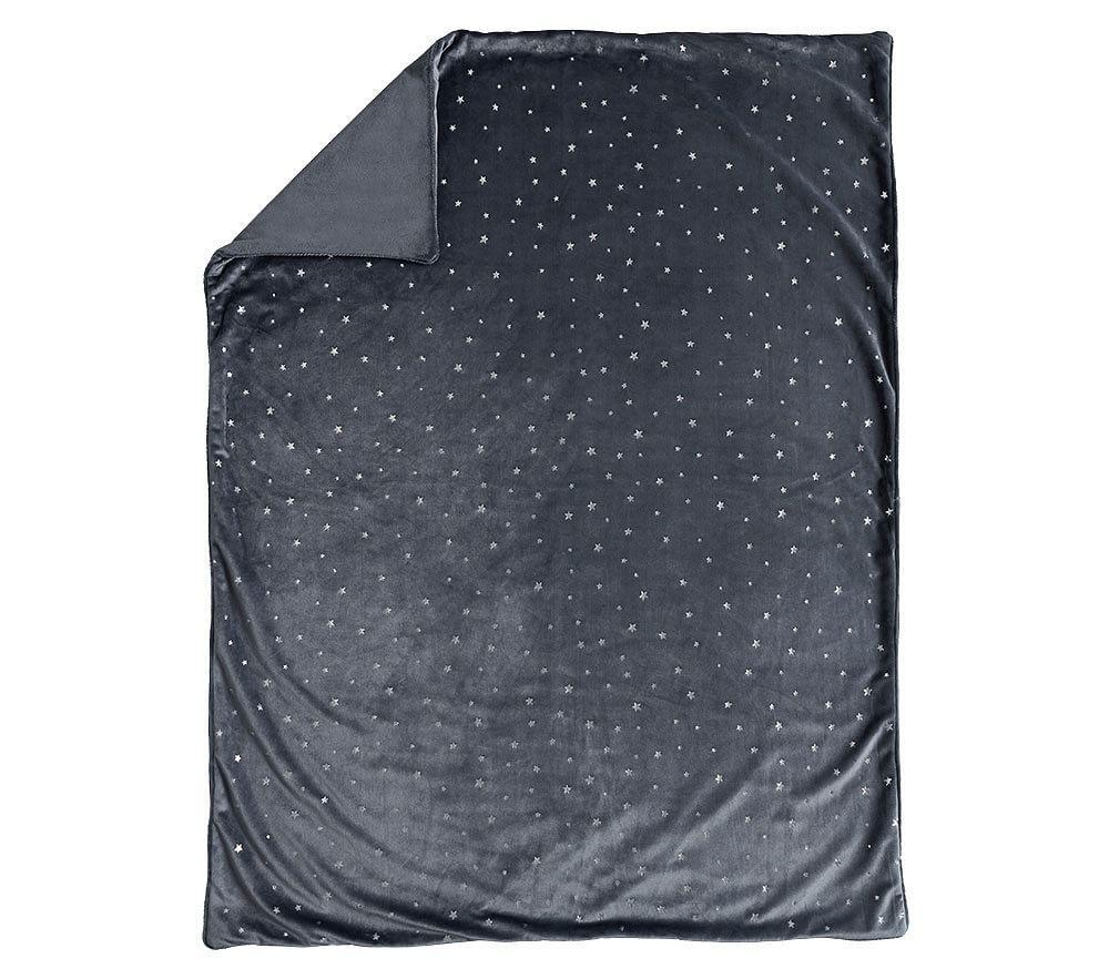 Chamois Metallic Star Baby Blanket