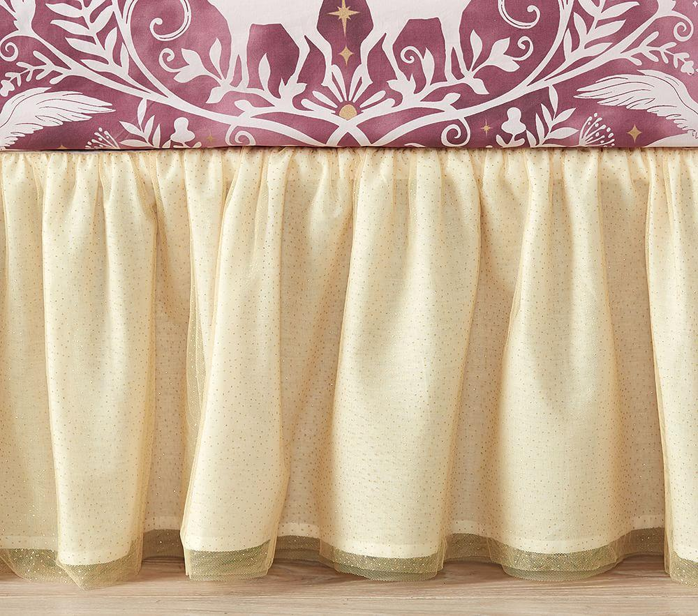 Tulle Cot Skirt, Gold
