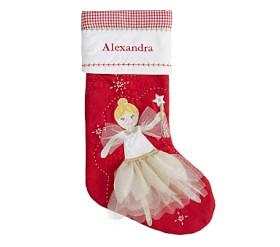 blonde fairy quilted stocking - Girl Christmas Stocking