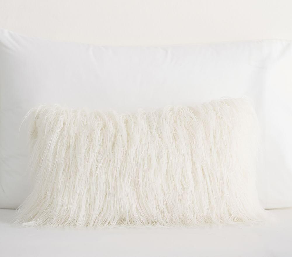 Faux Fur Cushion Cover - Ivory