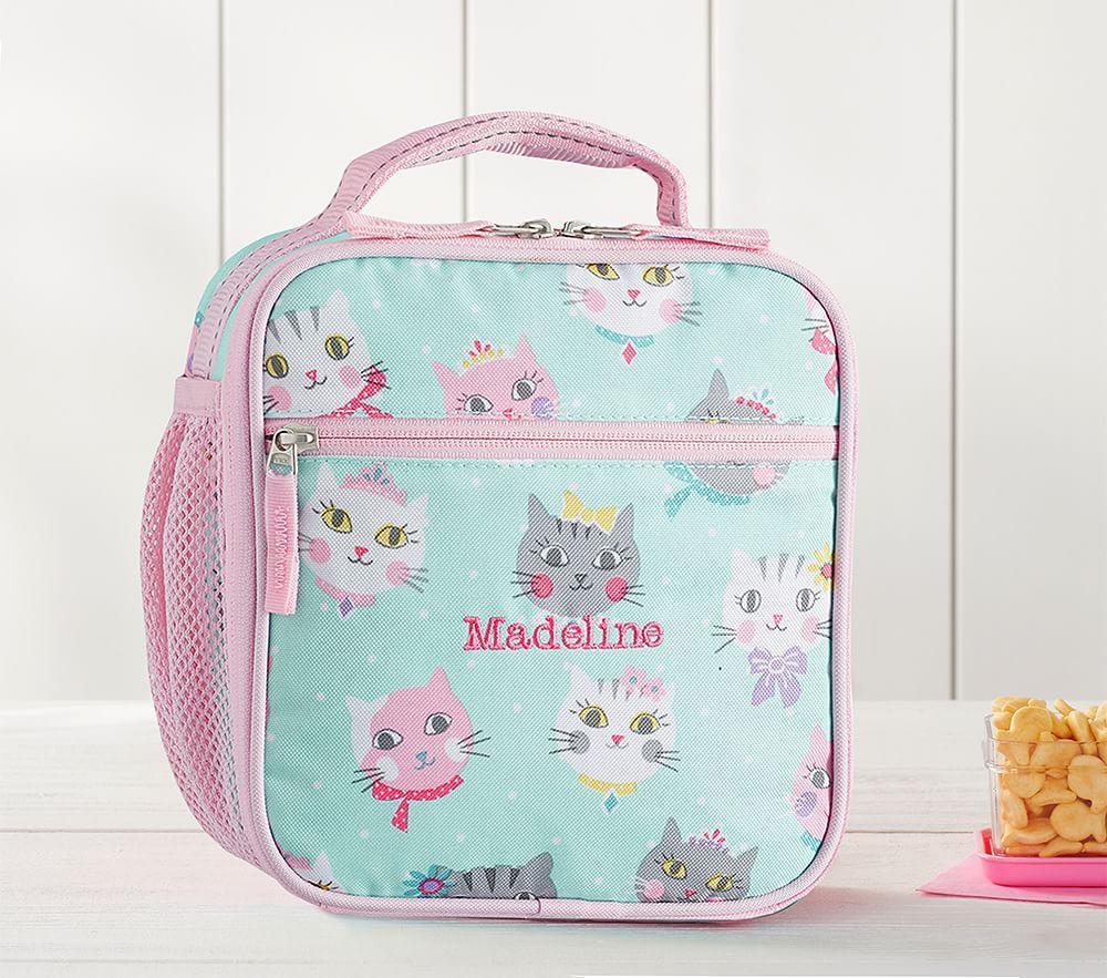Mackenzie Aqua Pink Princess Kitty Classic Lunch Bag