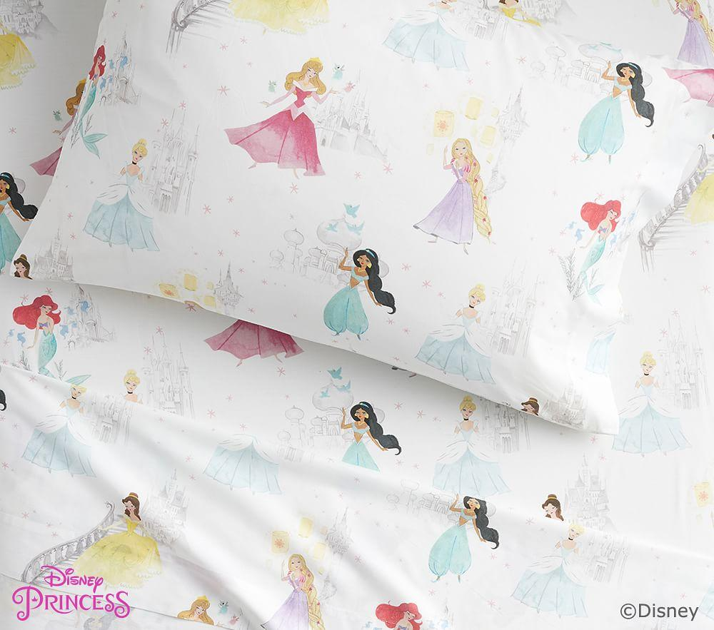 Organic Disney Princess Castles Sheet Set