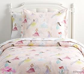 Organic Disney Princess Castles Quilt Cover