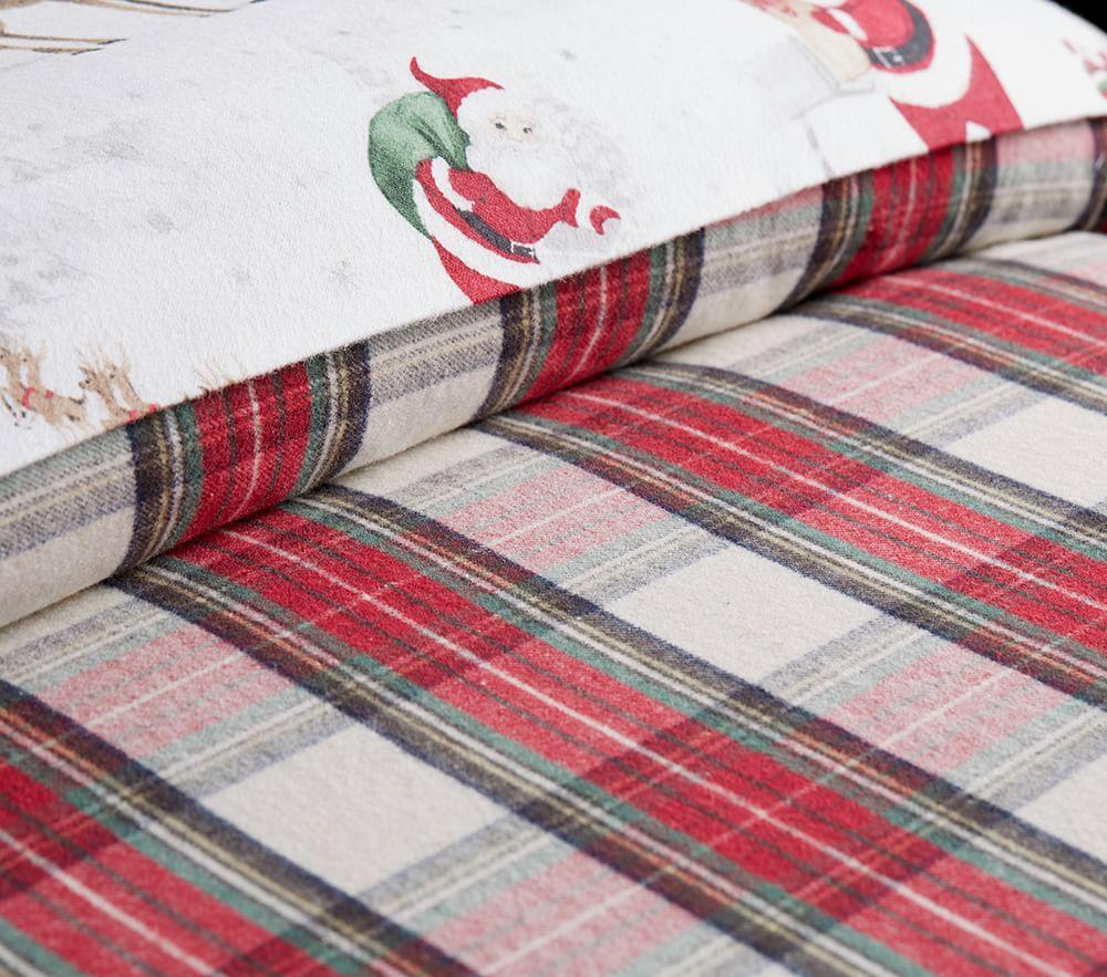 Organic Flannel Morgan Plaid Quilt Cover