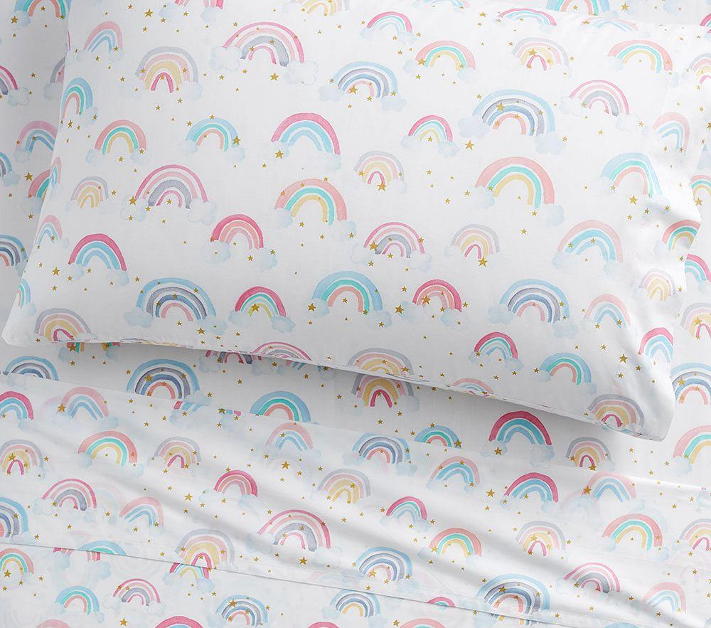 Organic Rainbow Cloud Sheet Set Pottery Barn Kids Au