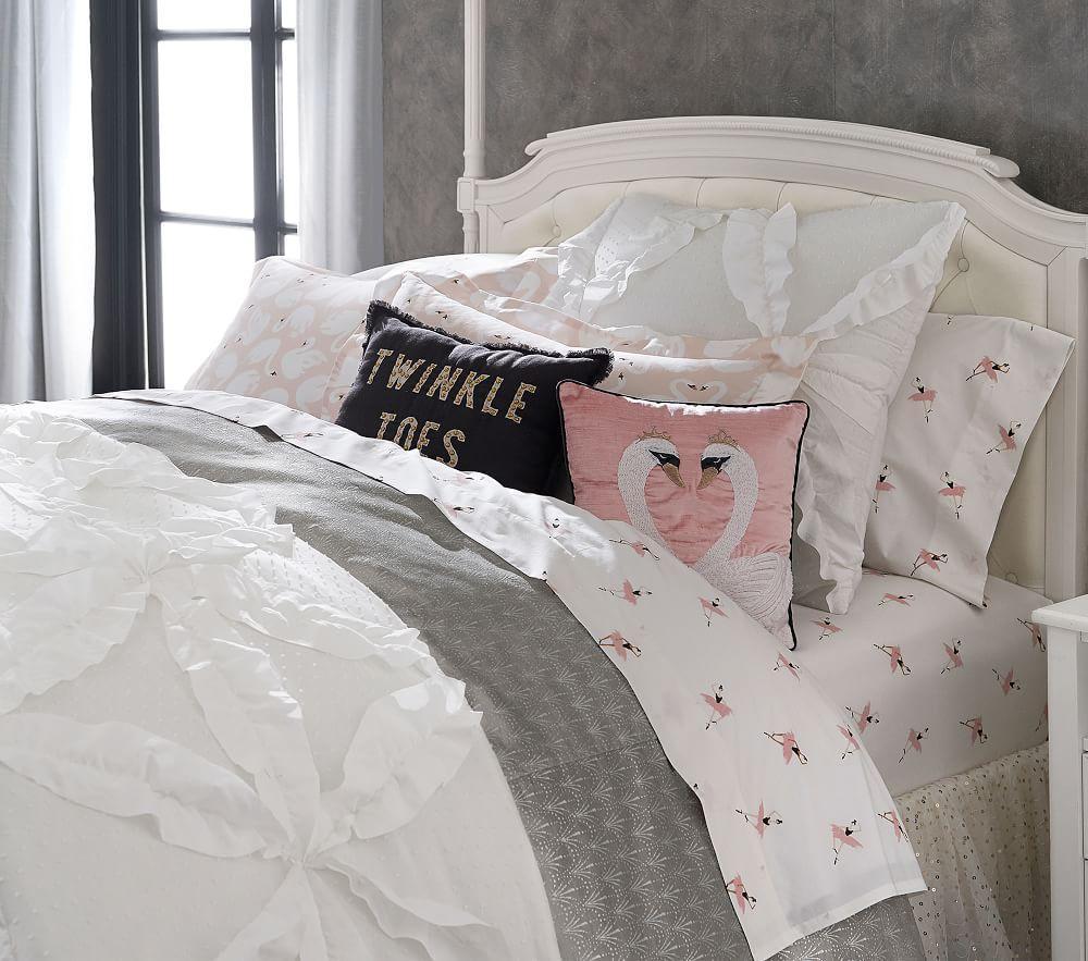 The Emily & Meritt Heart Of Swans Cushion