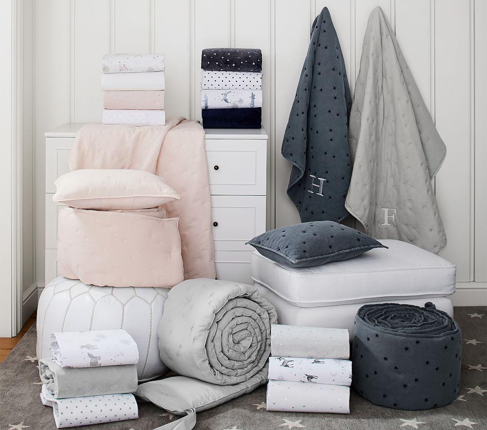 Finley Baby Bed Linen, Dark Blue