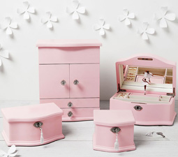 Abigail Jewellery Box Collection - Pink