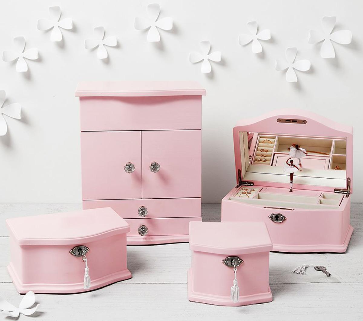 Abigail Jewellery Box Collection Pink Pottery Barn Kids Au