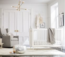 west elm x pbk Midcentury White Nursery