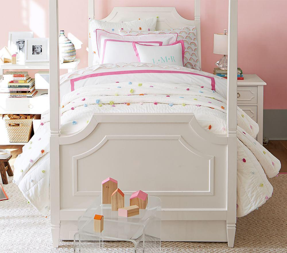 Bright Pom Pom Comforter Pottery Barn Kids Au