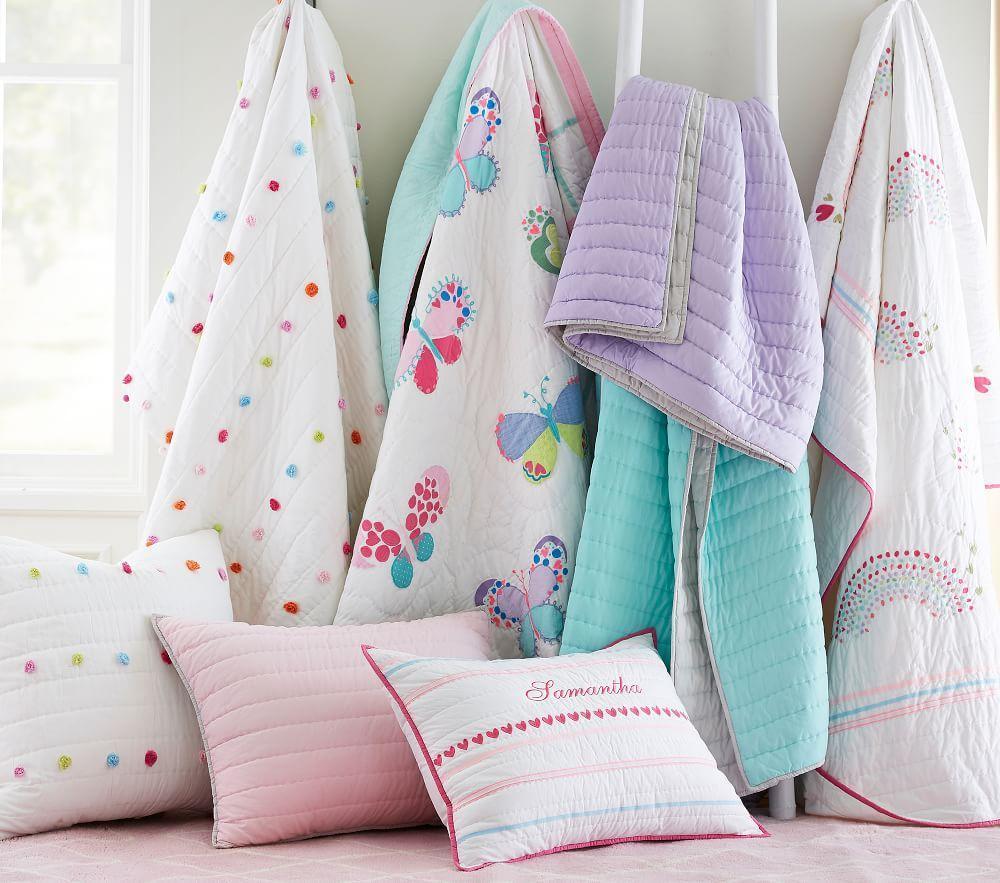 Bright Pom Pom Comforter Pottery Barn Kids Au