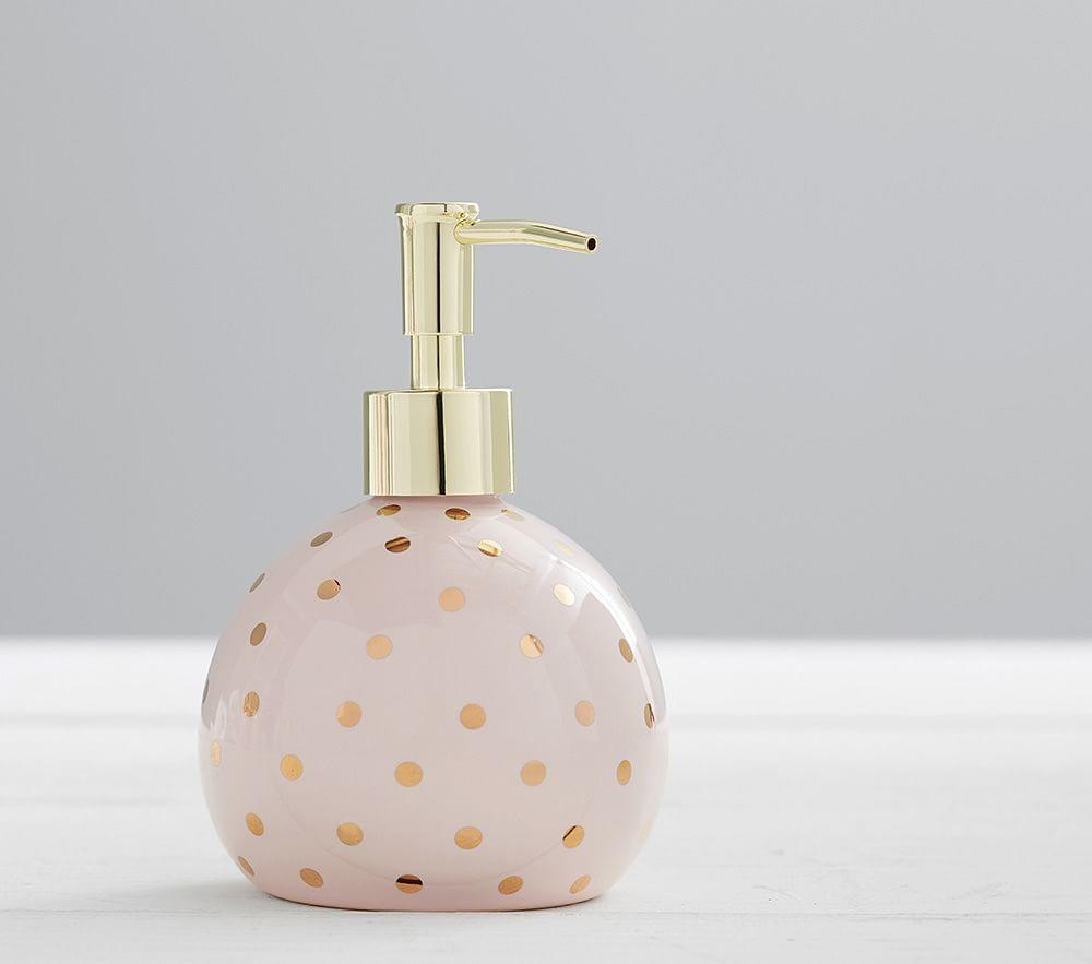 Metallic Dot Bath Accessories