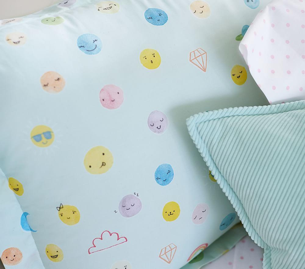 Organic Funny Faces Quilt Cover
