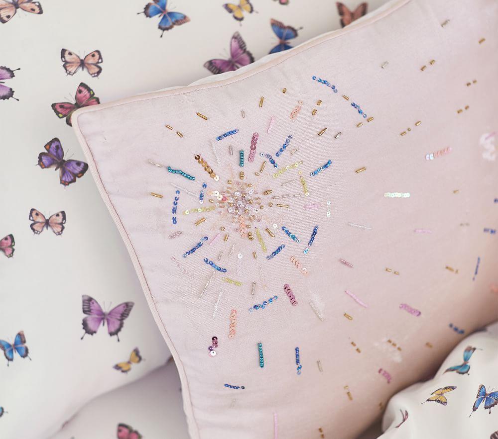 Monique Lhuillier Embellished Starburst Cushion