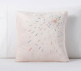 Monique Lhuillier Embellished Starburst Cushion