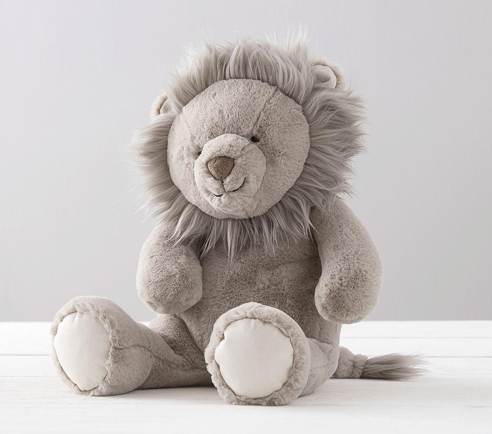 Taupe Lion Animal Plush
