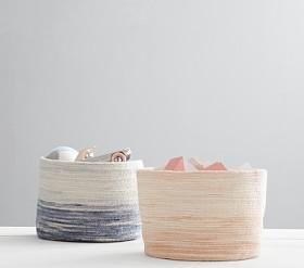 Woven Ombre Storage Baskets