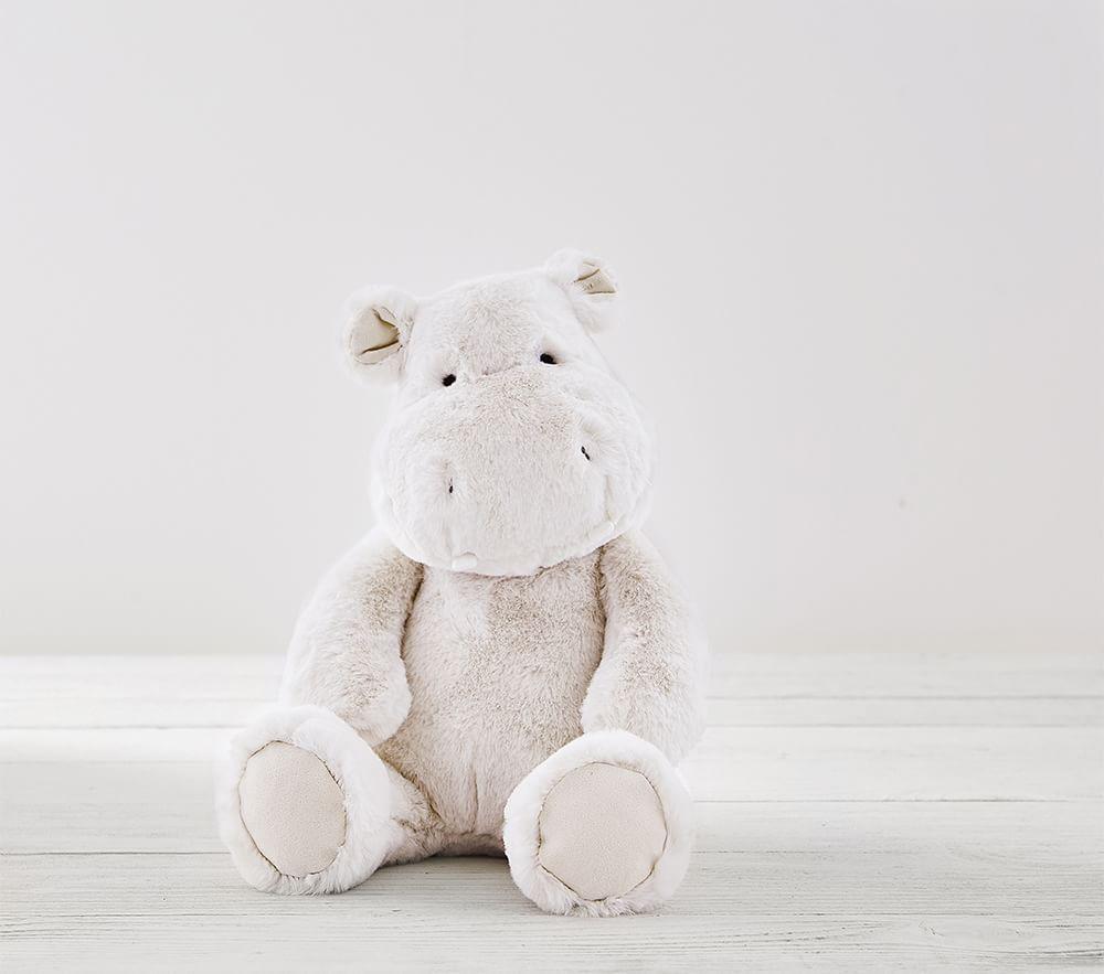 Grey Hippo Nursery Plush