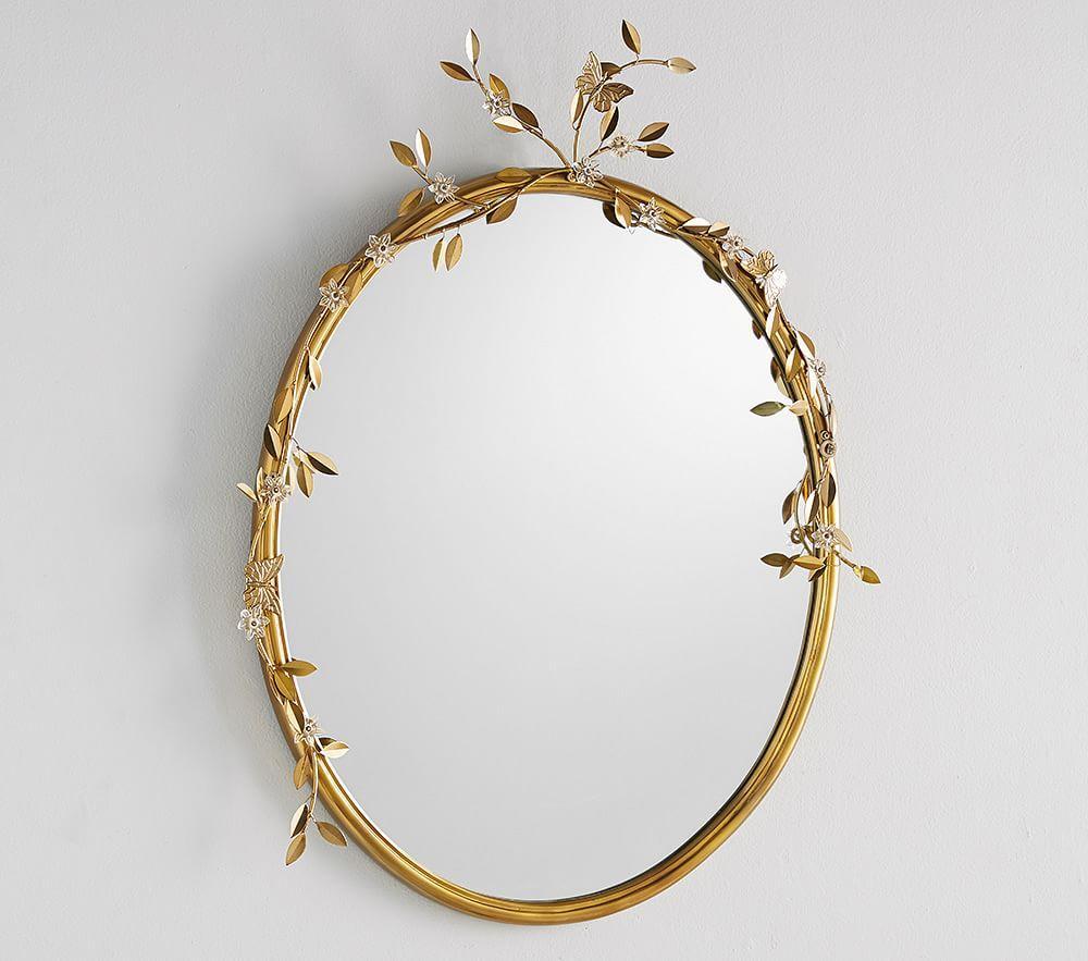 Monique Lhuillier Floral Beaded Mirror