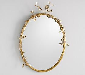 Monique Lhuillier Floral Beaded Mirror