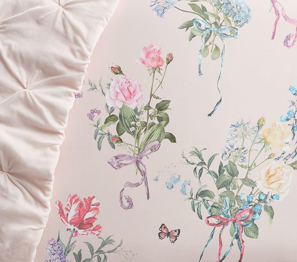 Monique Lhuillier Organic Sateen Bouquet Cot Fitted Sheet