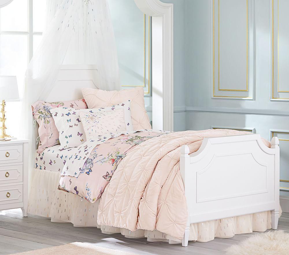 Monique Lhuillier Sequin Embellished Bedskirt