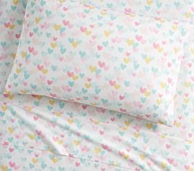 Organic Retro Heart Sheet Set