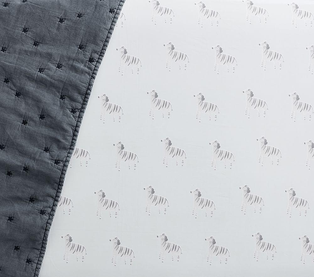Organic Zebra Cot Fitted Sheet