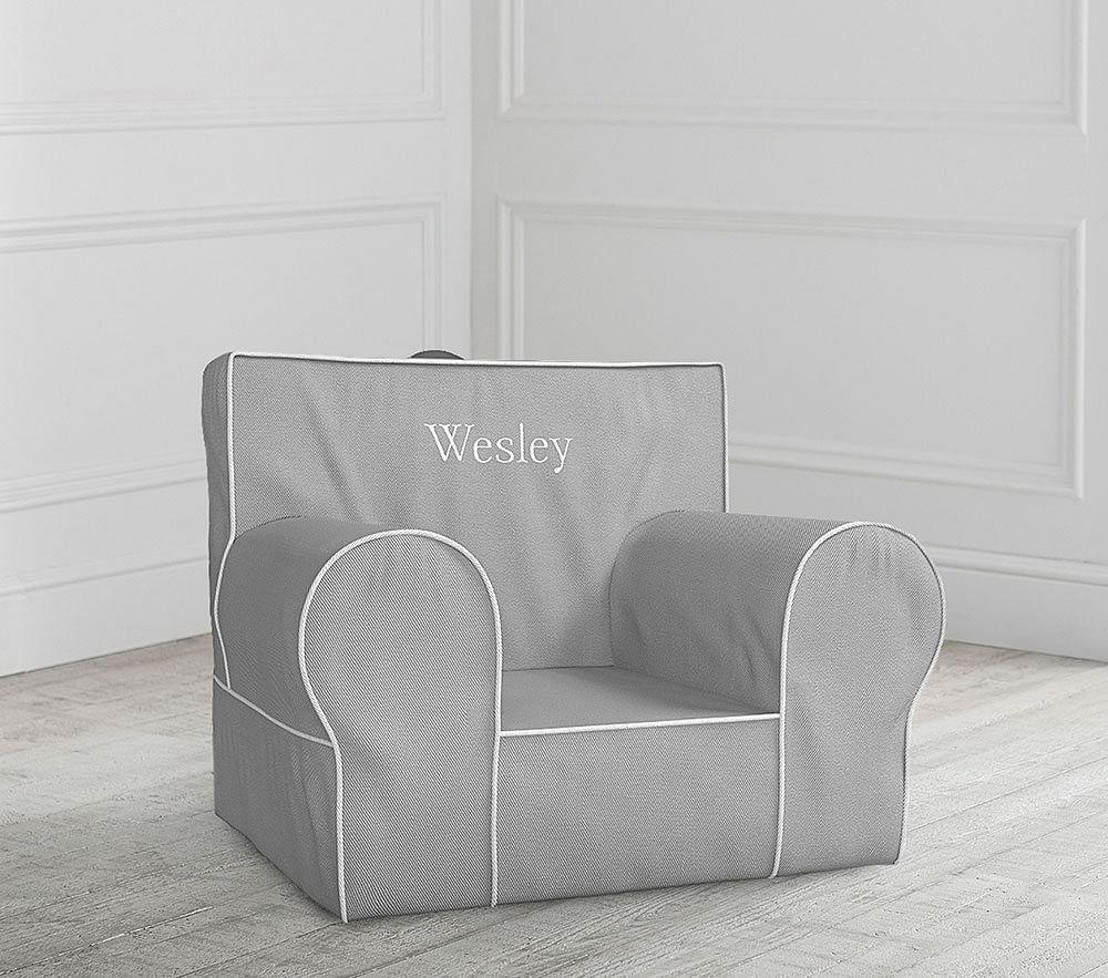 Grey With White Piping Anywhere Chair 174 Pottery Barn Kids Au