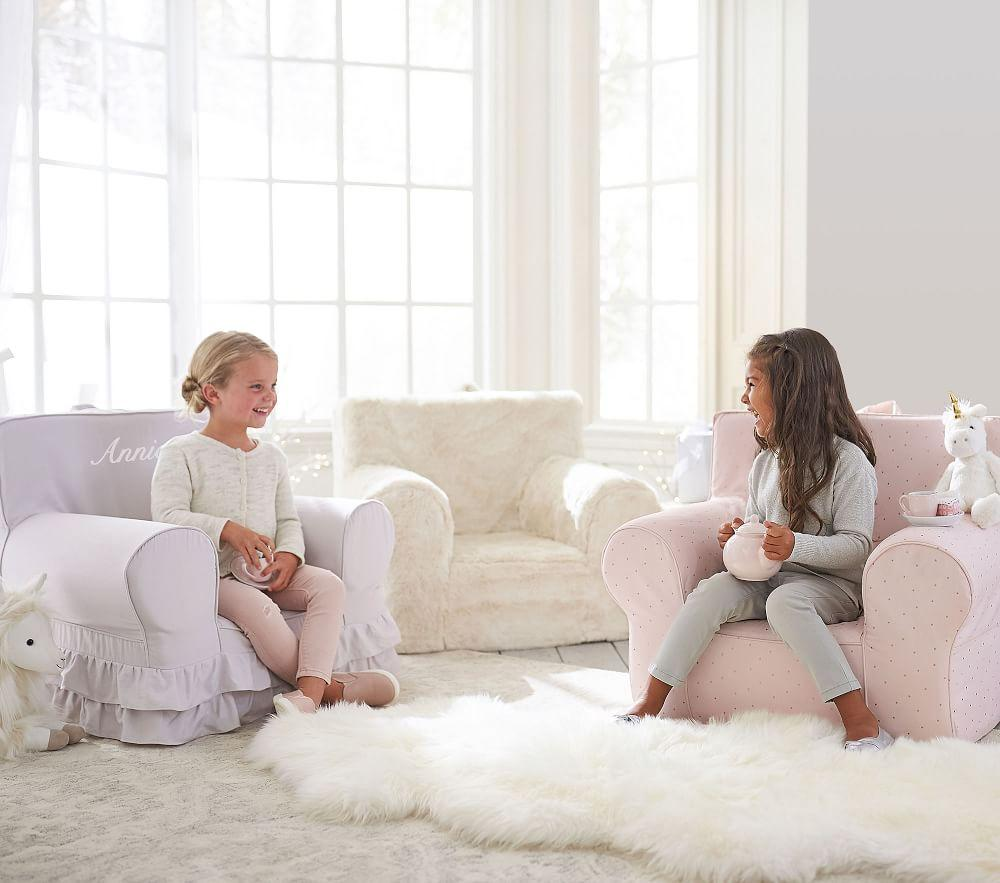 Ivory Fur Anywhere Chair