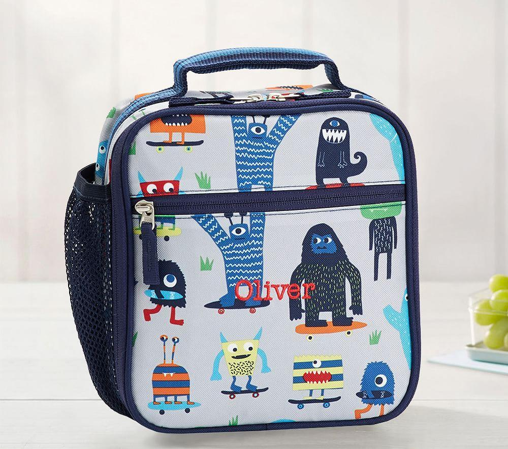Mackenzie Grey/Blue Preppy Monsters Classic Lunch Bag