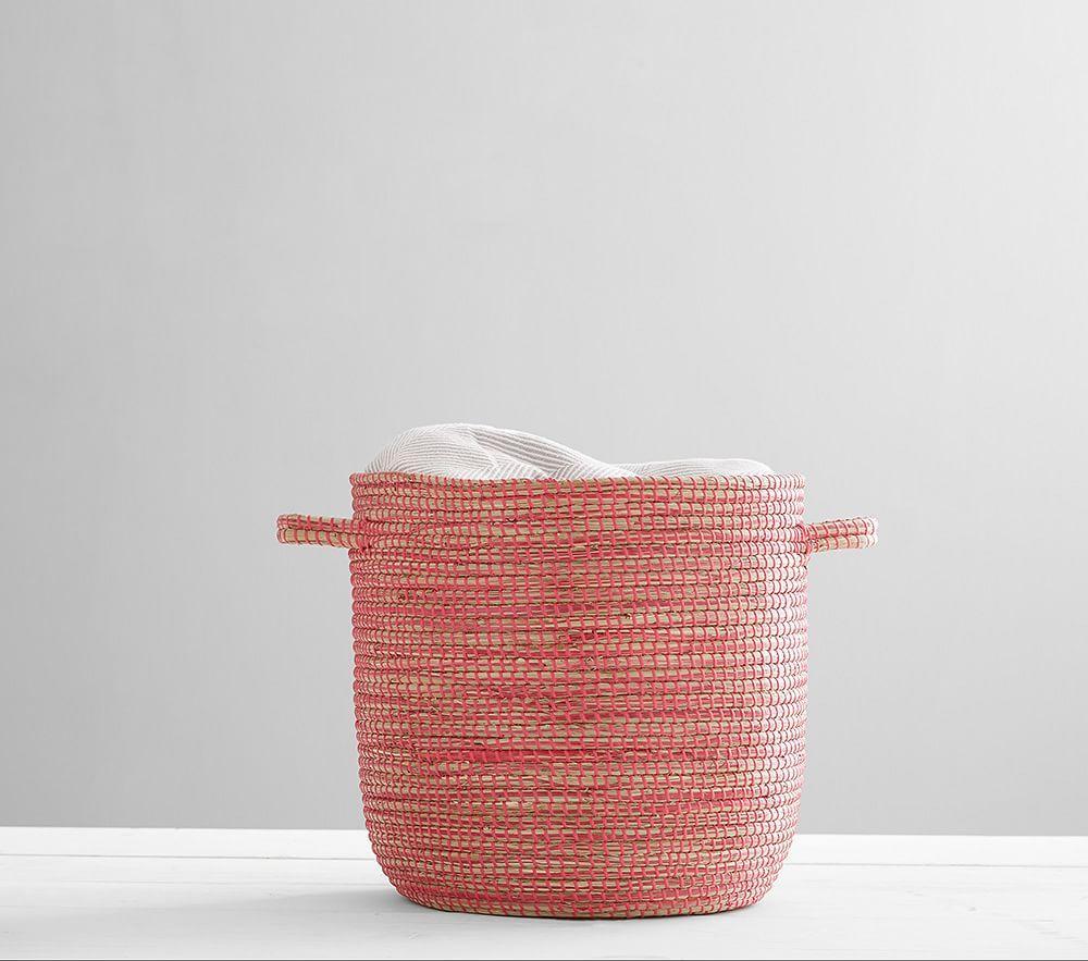 Heathered Seagrass Storage, Pink
