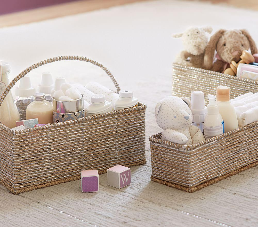 Silver Rope Changing Table Storage
