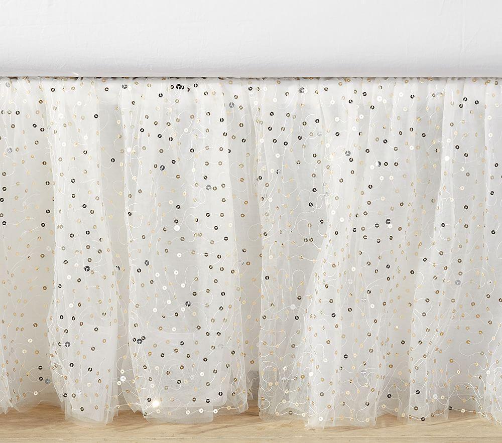The Emily & Meritt Sparkle Tulle Bed Skirt